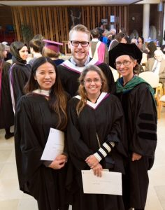 TATI grads graduating from Wilfrid Laurier University with a Masters of Spirituality and Psychotherapy 2016